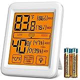 Herphia Digital Humidity Gauge Meter, Indoor Humidity Monitor and Hygrometer Thermometer with Jumbo