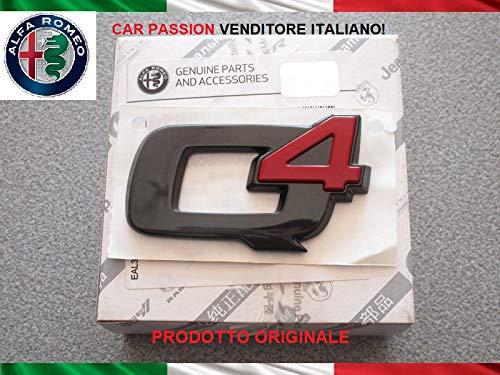 Scritta Stemma Q4 Nera Posteriore Originale Logo Sigla Emblema Adesivo Compatibile con Alfa Romeo Giulia Stelvio
