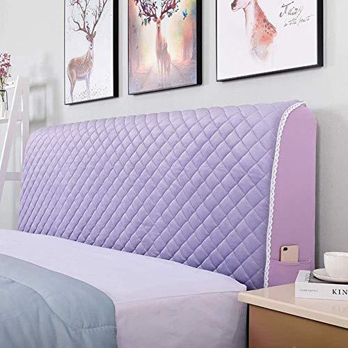 Funda Para Cabecero De Cama, De Tela, Elástica, Protector Cubierto A Prueba De Polvo Cover, Decoración,Purple-160X75cm(63X29inch)