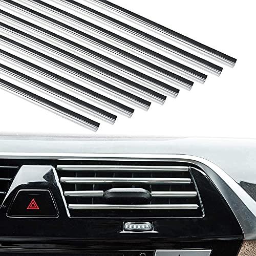20 Pack Car Vent Trim Strips Chrome Car Interior Moulding Trim Air Conditioner...