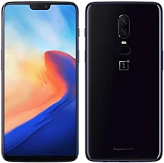 """OnePlus 6 A6000 64GB/6GB Mirror Black - Dual Back Cameras, Face & Fingerprint Identification, 6.28"""", Android 8.1 - International Version - No warranty in the USA - GSM ONLY, NO CDMA (Renewed)"""