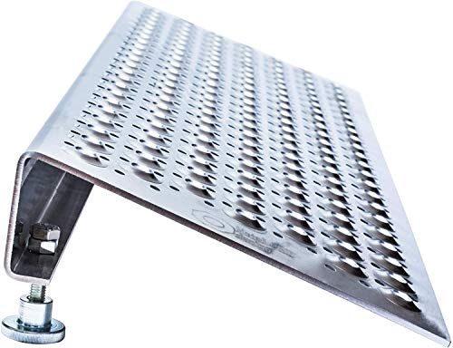 Einstellbare Rampe für Roller, Rollstühle und Rollwagen, Höhe von 6 bis 9 cm. Aluminium