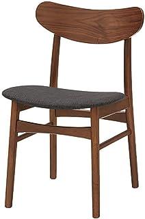 Shisyan Silla de comedor 2 sillas de madera maciza Silla de comedor moderno minimalista del hotel Silla de comedor Cafe sillas de diseño Silla de cocina (Inicio Color: Negro, tamaño: 46,5 cm x 45 cm x