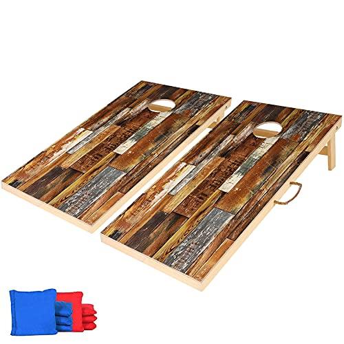 CastleLife Premium Solid Wood Cornhole Game Set, Regulation Size 4'x...