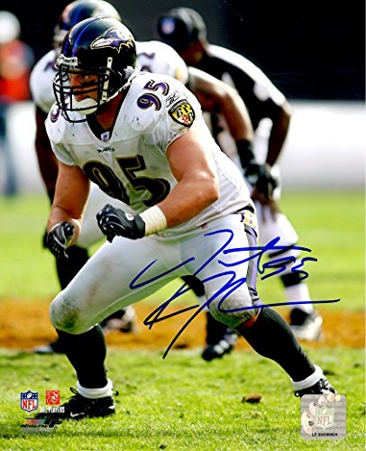 Autographed Jarret Johnson 8x10 Baltimore Ravens Photo