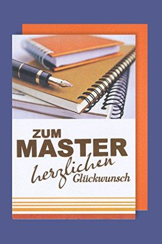 Master Grußkarte Karte Herzliche Glückwünsche Bestanden Füllhalter 16x11cm
