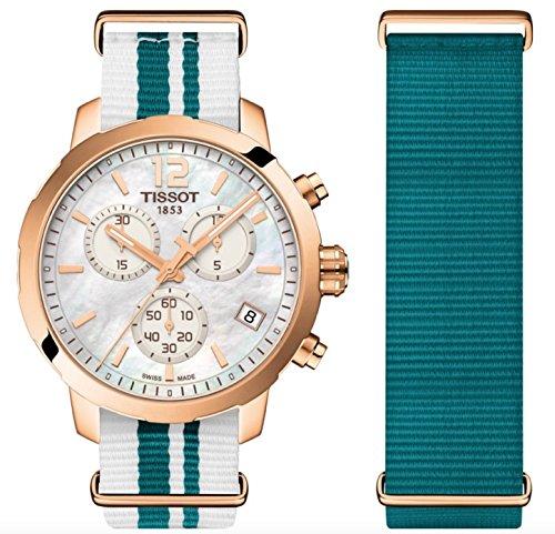 Tissot Orologio Cronografo Quarzo Donna con Cinturino in Nylon T095.417.37.117.01