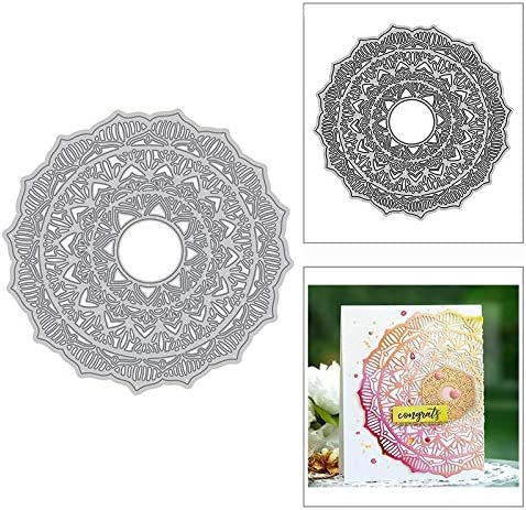 Mandala Kaleidoscope Flower Metal Paper Max 54% OFF Stencils Dies Cutting fo Special Campaign