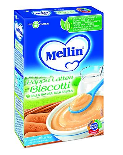 Mellin Gusto Biscotti Pappa Lattea per Bambini, 6+ Mesi - 250 gr