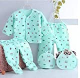 Fit Type: Fits true to ze, take your normal size ( 5 Piece Set ) Material: 100%cotton/Fleece/Falalen Material: 100%cotton/Fleece/Falalen Best Gift For New Born Babies to 3 months new born baby winter suit Baby Gift Set | New born baby suit set | baby...