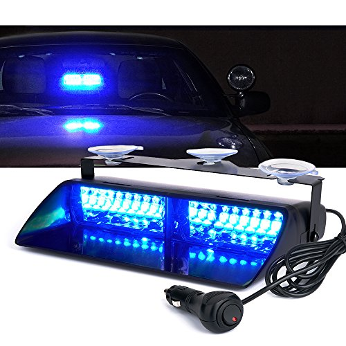 Xprite 16 LED High Intensity LED Windshield Emergency Hazard Warning Strobe Lights - Blue