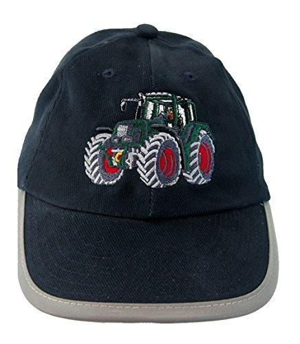 Zintgraf Blaue Security Baseball Kappe Sicherheits Cap grüner Traktor rote Felgen Stickerei (52-54cm)