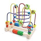 Nuheby Jeu Labyrinthe Circuit de Motricité Jouets Bebe Bois Jeux Montessori Boulier Labyrinthe 6 Insectes Jeu Educatif Cadeau Enfant 3 4 5 6 Ans Fille Garcon