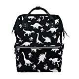 WOZO Cute Kids Dinosaur Paw Print Multi-function Diaper Bags Backpack Travel Bag