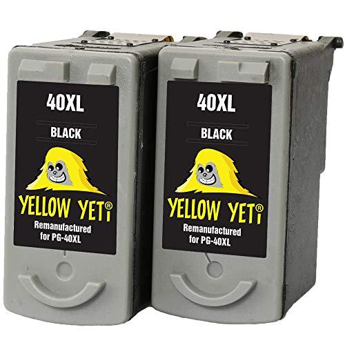 Yellow Yeti PG-40 Cartuchos de Tinta remanufacturados Negro para Canon Pixma iP2600 MP140 MP460 iP1800 iP1900 iP2500 MP190 MP210 MP220 MP170 MP180 MP160 MP450 MP470 MP150 MX300 MX310 iP1200 iP1600