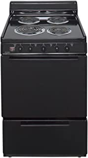 """Premier ECK100BP 24"""" Freestanding Electric Range with 2.4 cu. ft. Capacity 4 Burners Two Heavy-Duty Oven Racks Closed Door Boiling Storage Drawer and Leveling Legs in"""