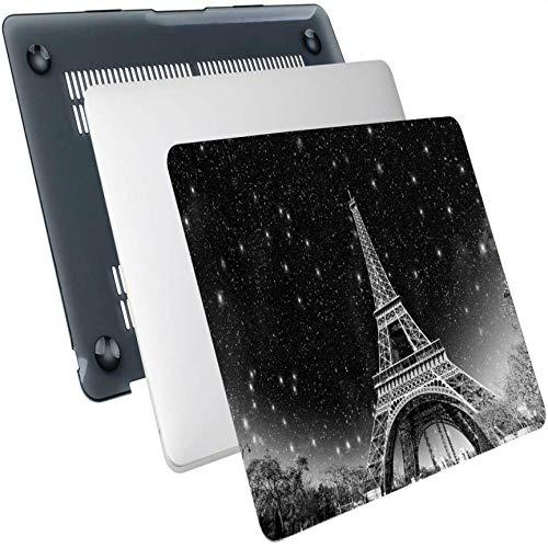 Macbook Pro 15 Cover Fantasy Starry Wonderful Night Paris Torre Eiffel Carcasa rígida de plástico Compatible con Mac Air 13'Pro 13' / 16'Funda Protectora para Macbook Air A1466 Funda Protectora par