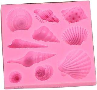 Floridivy Pink Concha de Silicona Pastel patrón de Molde de la Galleta moldes de repostería Galletas de la hornada Gadgets Herramientas de la Cocina