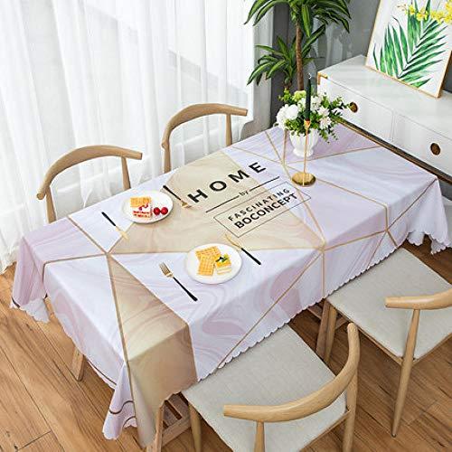 Traann Plastic tafelkleed afvegen, vierkant plastic tafelkleed bescherming olie/vinyl doek alle gelegenheden tafelservies driehoek eland 135*200 F