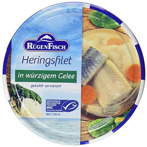 Rügenkrone Rügenfisch Heringsfilet in Gelee, 12er Pack (12 x 200 g Dose)