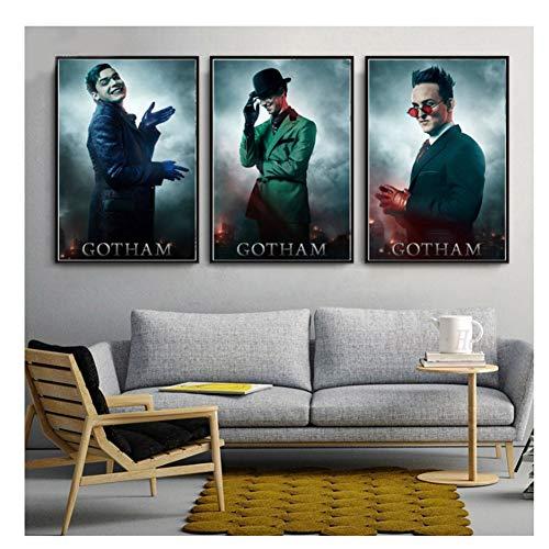 nr Gotham staffel 5 tv Serie usa heißer Jeremiah Valeska Charakter Poster Wand kunstdrucke leinwand Silk leinwand für zu Hause Wand decor-60x80cmx3 kein Rahmen