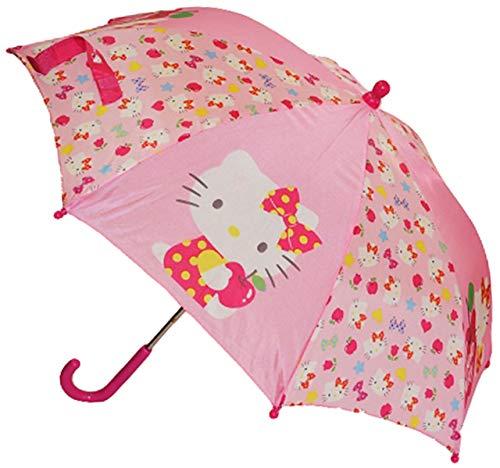 alles-meine.de GmbH Regenschirm -  Hello Kitty  - Ø 66 cm - Kinderschirm - Katze / Kätzchen pink - für Kinder Stockschirm - Schirm Kinderregenschirm / Glockenschirm - rosa - Bu..