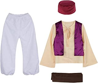 Men Teenage Trendy Arabian Prince Fairy Tale Anime Sheik Arab Persia Costume Hat Cosplay Theme Party
