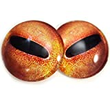 40mm Orange Octopus Eyes Taxidermy Irises Nautical Steampunk Creature for Art Doll Sculptures or Jewelry Making Crafts
