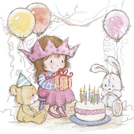 20 Servietten Prinzessinnen-Party/Mädchen/Geburtstag 33x33cm