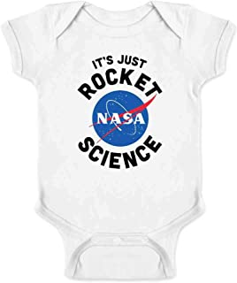 Pop Threads NASA Approved It's Just Rocket Science Funny Infant Baby Boy Girl Bodysuit
