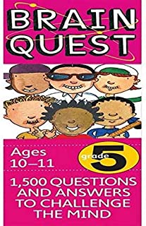 Brain Quest Grade 5 1,500 Questions and Answers to Challenge the Mind by Chris Welles Feder - Paperback