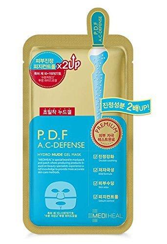 MEDIHEAL P.D.F F.C-DEFENSE NUDE GEL MASK 5EA /メディヒール P.D.F AC-ドレッシング アンプルマスク (5枚...