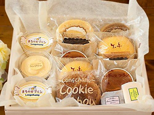 【母の日用】プリン シュークリーム ロールケーキ チョコケーキ チーズケーキ 半生 ケーキ いろいろセット (中サイズ)