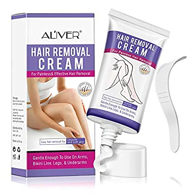 Hair Removal Cream, Depilatory Cream, Skin Friendly Painless Flawless Hair Remover Cream for Women and Men by LeSB