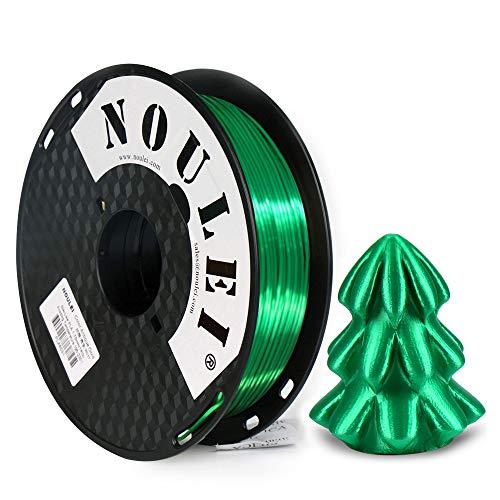 Noulei Shiny PLA Filament 1.75mm Silk Jade Green, 3d Drucker printer Filament PLA 500g Spool