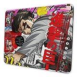 Mousepad Levi Ackerman Manga Cover Angriff Auf Titan Mouse Pad Desktop Geschenk Rutschfester Laptop Home 25X30Cm Mausmatte Büro Computerspiel Anime Schulschlafsaal Mousepad Student