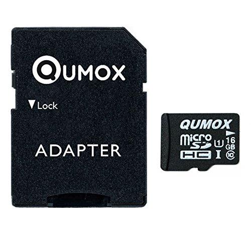 QUMOX 16GB MICRO SD MEMORY CARD CLASS 10 UHS-I 16 GB HighSpeed Velocità di scrittura Velocità di lettura 12MB / S fino a 70MB / S