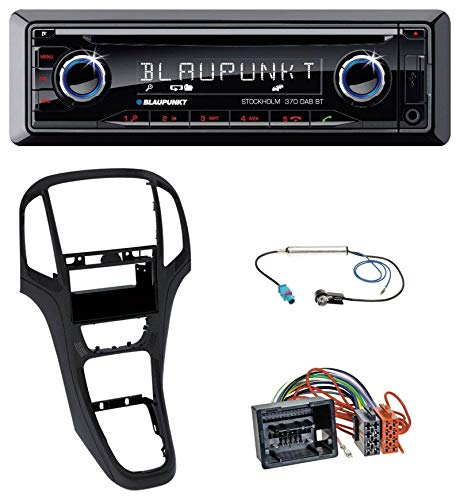 caraudio24 Blaupunkt Stockholm 370 DAB BT CD DAB Bluetooth MP3 USB Autoradio für Opel Astra J ab 2009 Perl schwarz