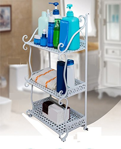 QFF Étagère de salle de bain étagère étagère de salle de bain étagère étagère étagère étagère étagère ( Couleur : Blanc , taille : 32*21*77cm )