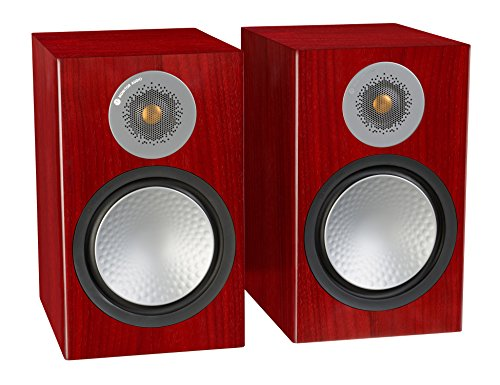 Monitor Audio Silver 100 Bookshelf Speakers - Pair (Rosenut)