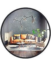 GULD & KROM väggspegel, rund, med aluminiumram   Teflonbelagd spegelyta, motståndskraftig mot fukt   Spegelram, 2 cm djup, pulverlackerad, enkel montering