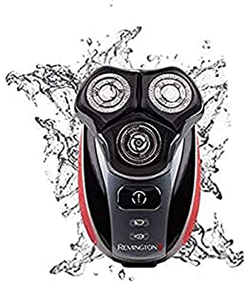 Remington XR1410 Flex360 Rotary Electric Shaver and Groom Kit (Cleansing Brush, Beard Trimmer and Pre-Shave Massage Brush) - Red/Black by Spectrum Brands UK Ltd