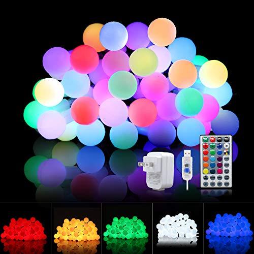 Fairy Lights Plug In, Indoor String Lights 33 Ft 100 LEDs Led Lights for Bedroom Globe String Lights with Remote, Fairy Lights for Bedroom Dorm Lights Led Christmas Lights for Room Decor(16 Colors)