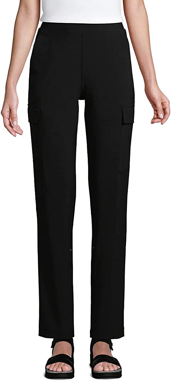 Lands' End Women's High Rise Elastic Waist Pull On Adjustable Length Cargo Pants