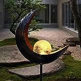Solarleuchte Solarlampen für Garten Gartenleuchte Solar Mond Leuchte Wegeleuchte mit Erdspieß Außen Beleuchtung Dekoration für Garten 1 PCS …