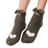Gebuter Winter Cat Claws Cute Thick Warm Sleep Floor Socks for Women Girls Home Indoor Women Fuzzy Fluffy Cozy Slipper Winter Warm Plush Home Lovely Cat Claw Soft Sleeping Socks