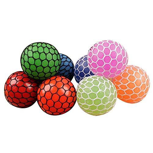 Feliz por aperto - Belisque a Bola de brinquedo sensorial de borracha – para aliviar o mau humor de crianças adultos,liberar estresse,Xiaomu