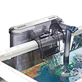 AKKEE Aquarium Filter, Hang On Fish Tank Filter with Surface Skimmer for 5-30 Gallon, Waterfall Design, Adjustable Water Flow, Oxygenation, Quiet Working
