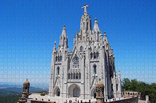 España Tibidabo Moutain Barcelona Rompecabezas para Adultos 1000 Piezas Rompecabezas de madera para adultos