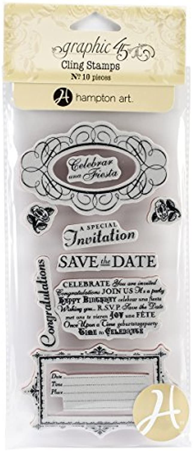 Graphic 45 Time to Celebrate Cling Stamps, Number 3 by Graphic 45 B0149H8WOU | Vorzugspreis